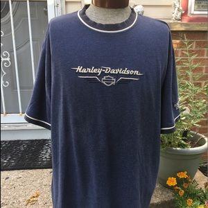 Harley Davidson Men's Blue Extra Large T-shirt